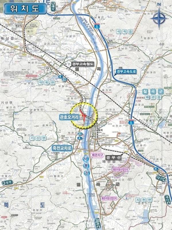 국도4호선 관호오거리 교차로 개선공사 위치도.(사진_국토교통부)